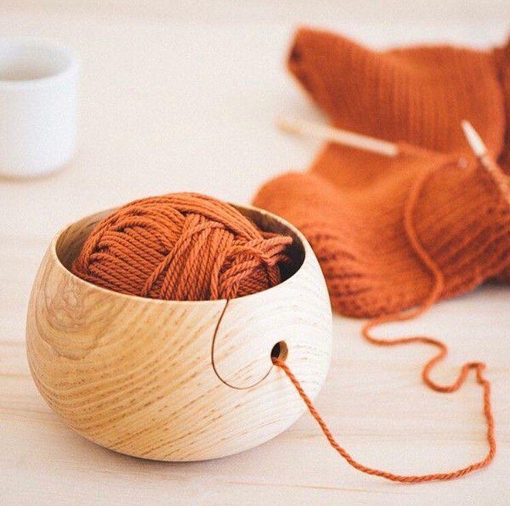 """designdaily.. on Instagram: """"Wood Yarn Bowls, from @twigandh…"""