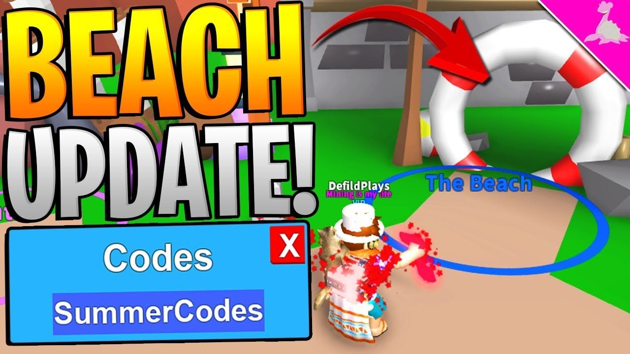 Mythical Beach Codes Update In Roblox Mining Simulator Free