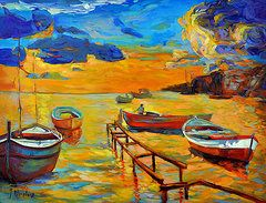 Oil Pastels Featured Images - Sea scenery  by Ivailo Nikolov