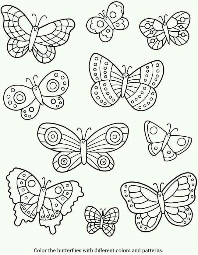 pin by roxanne kermidas on butterflies | coloring pages