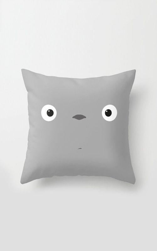 Wake Up Totoro Pillow Cover | dotandbo.com Because it's too adorable.