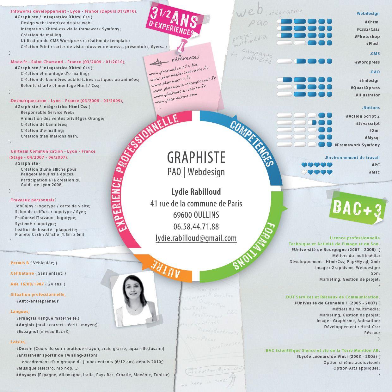 cv graphiste freelance template