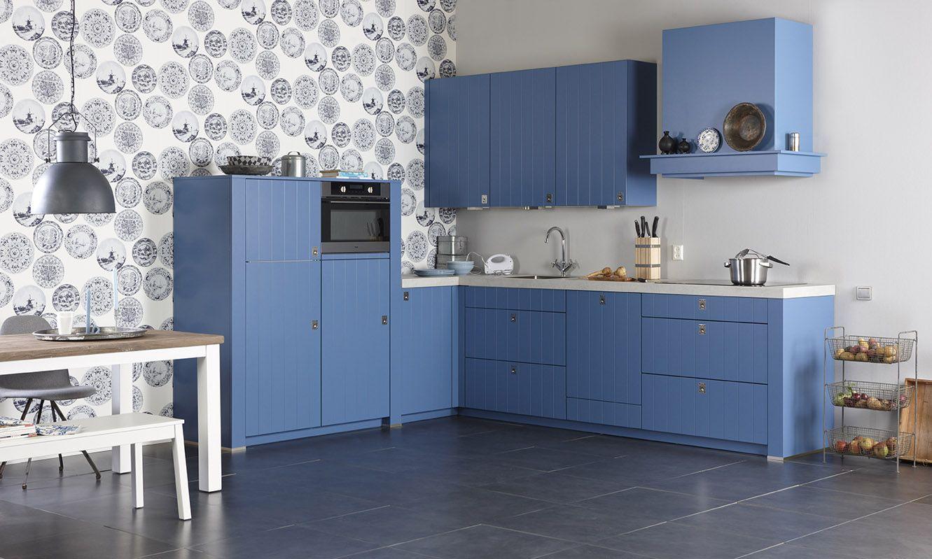 Bruynzeel giethoorn keuken in de kleur antiek blauw keuken pinterest - Deco keuken kleur ...