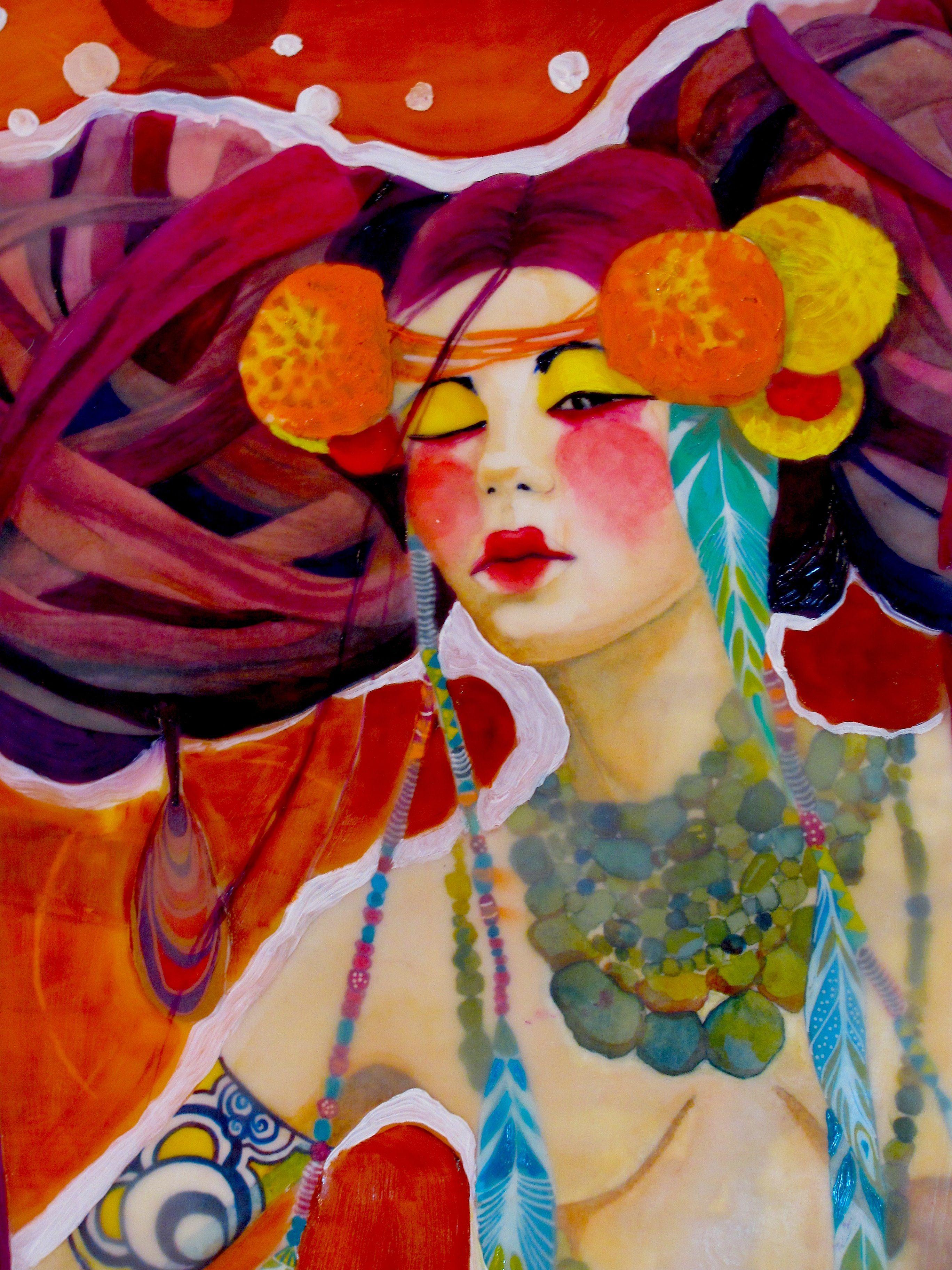 Encaustic Mixed media  By Marlene Koenig