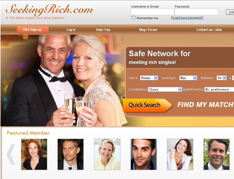 Dating site for rich men