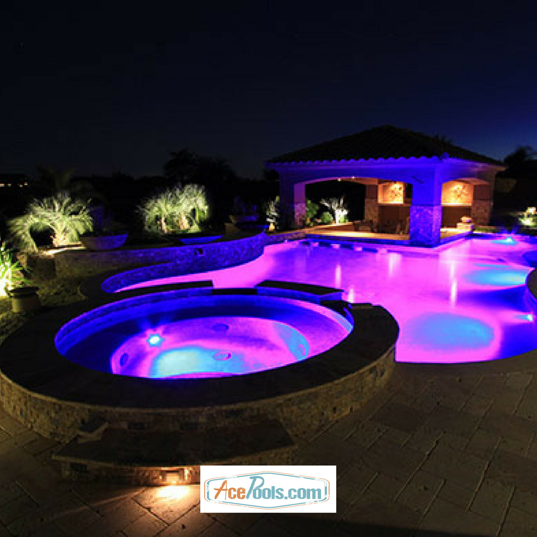 From Water Jets To Colored Lights You Ll Find Everything You Need At Acepools Com To Make Your Hot Tub Or Spa Hot Tub Inground Pools Backyard Pool Landscaping