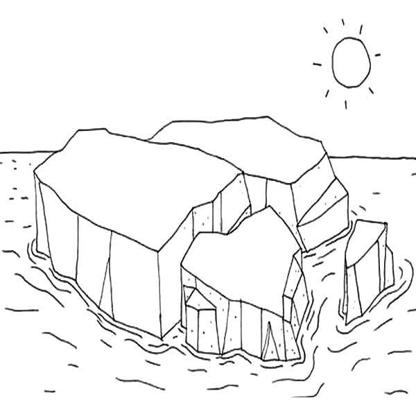 Iceberg Melting Iceberg Coloring Pages Sarkvid k