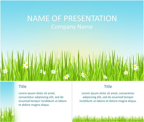 Spring Powerpoint Template  Powerpoint    Template