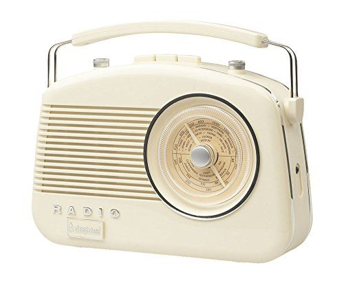 Buy Steepletone Brighton 1950's Portable Retro Style Rotary Radio - Beige - Topvintagestyle.com ✓ FREE DELIVERY possible on eligible purchases