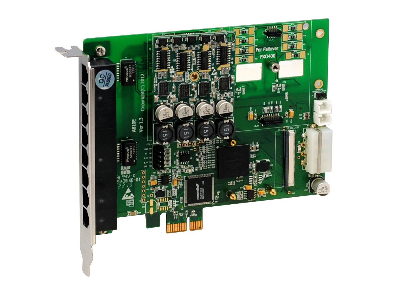 Openvox A810ef10 8 Port Analog Pci E Card Base Board 1 Fxs400 0 Caller Id Circuit Fxo400 With Failover And Call Waiting Adjustable Interrupt Ro
