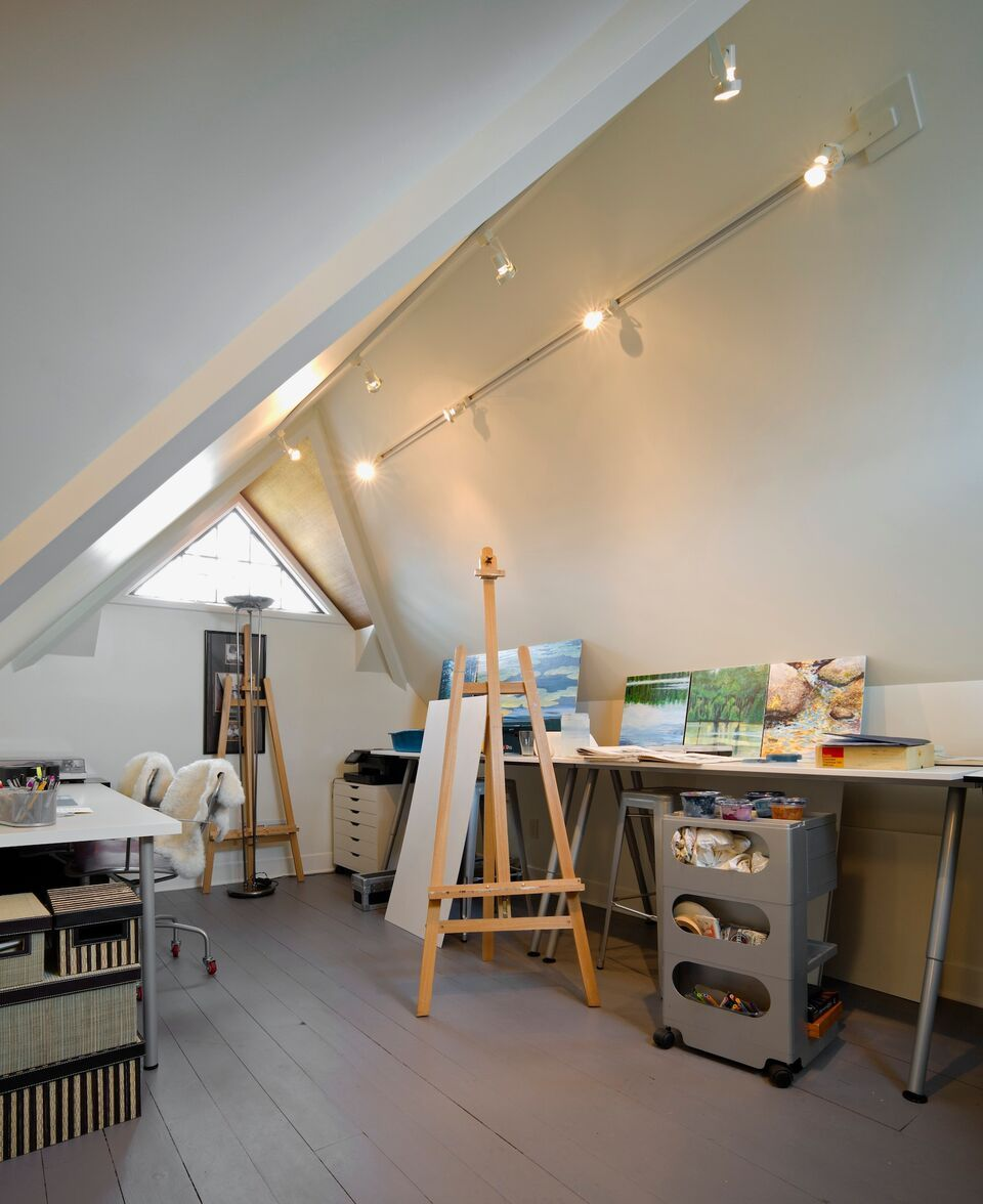 attic lighting ideas. Attic Lighting Ideas. This Is Finished And Used As A Private Art Studio. Ideas E