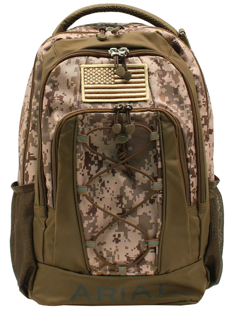 Ariat Digital Camo Backpack w/Bungee Cord Camo/Brown