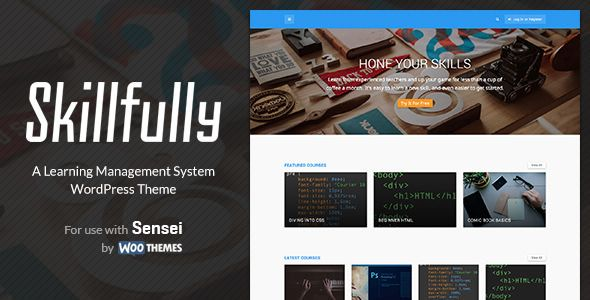 Skillfully v20 - A Learning Management System Theme -