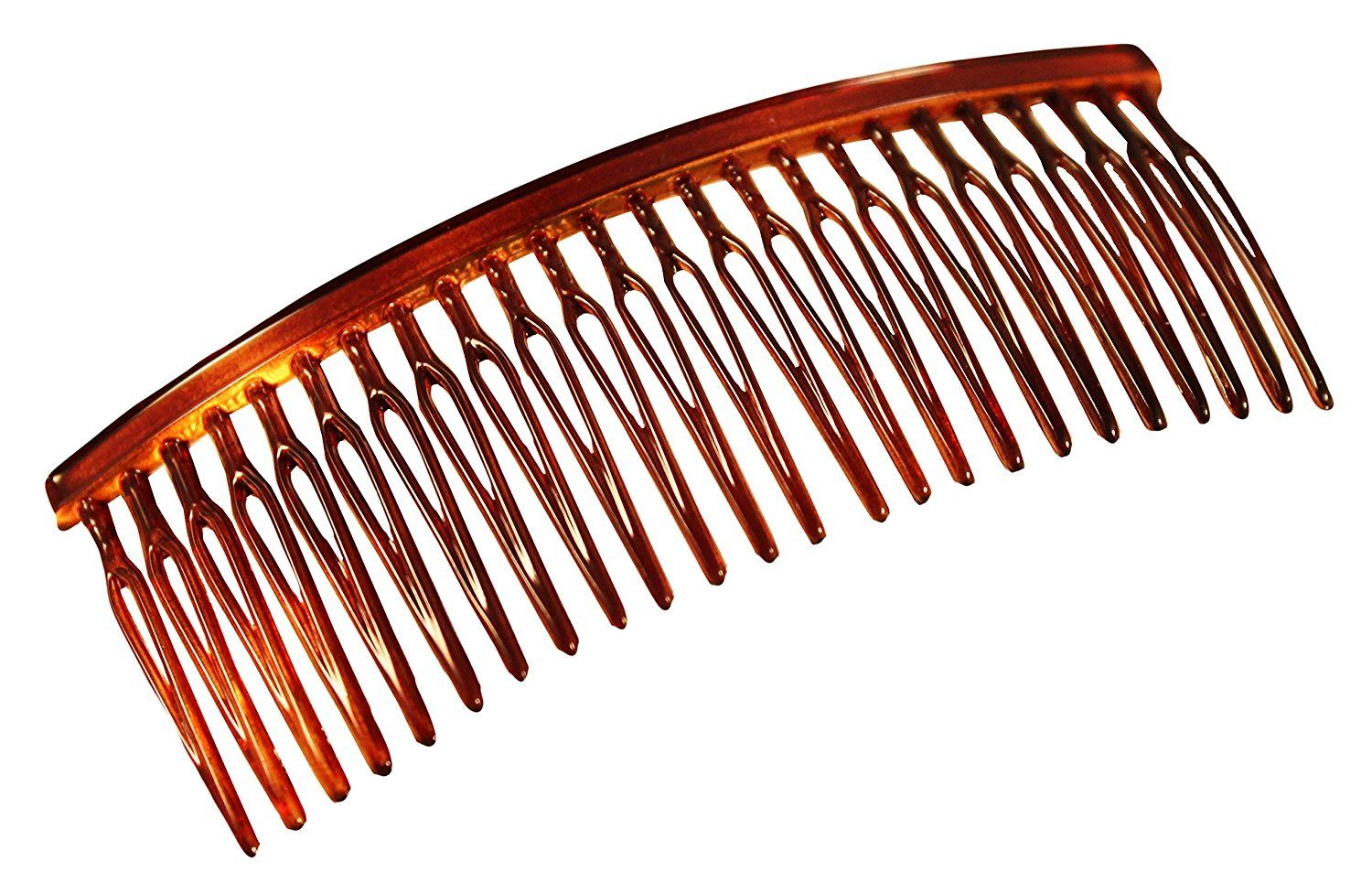 Parcelona French Large 3.5 Inches Glossy Celluloid Shell Good Grip Updo Hair Side Combs (2 Pcs) * Click image to review more details.