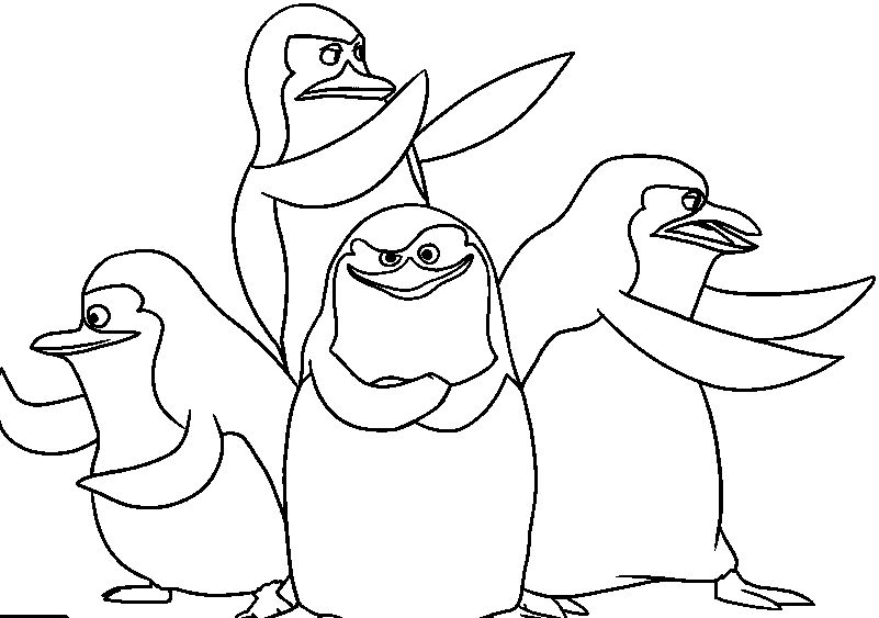 Madagascar Penguins Penguin Coloring Pages Penguin Coloring Coloring Pages