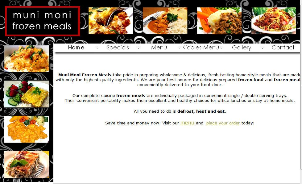 Web Site Done By 24 Web Design Studio Www 24web Co Za Situated In Cape Town South Africa Web Design Studio Affordable Web Design Frozen Meals