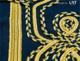 Bordado em Cordão/Cord Embroidery #lrt #bordado #cordao #textil #embroidery #cord #textile