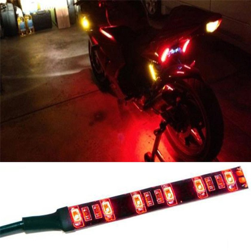 New Mini Strip Black Led Motorcycle Turn Signal Universal Amber Lights Strip 6led Car Accessories Affiliate Motorcycle Lights Car Lights Car Accessories