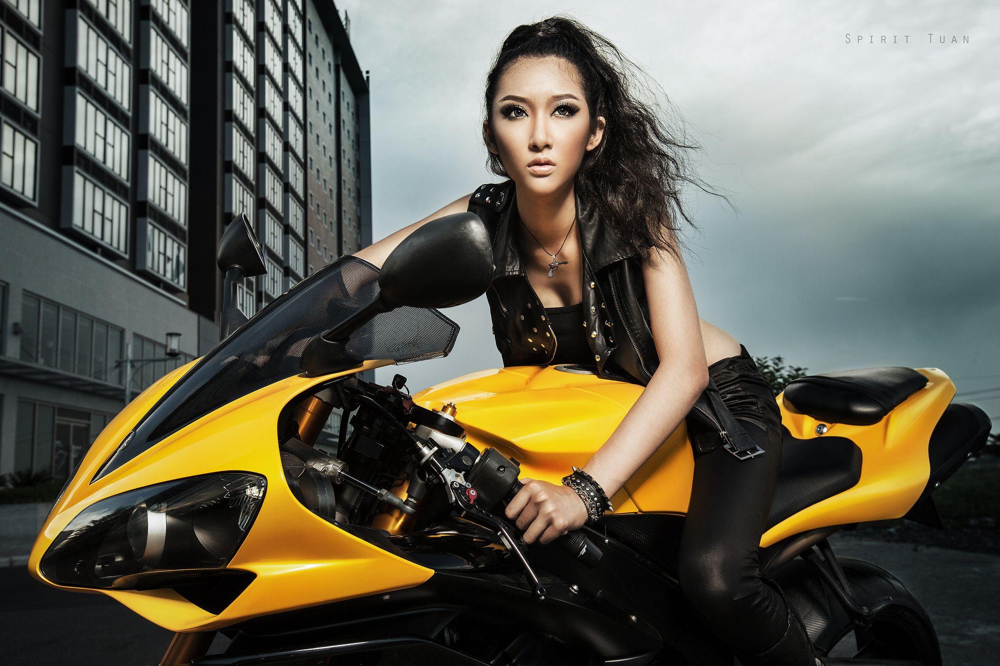 Motorcycle Girl Wallpaper: Kelly Khoa Nguyen Asian Bike