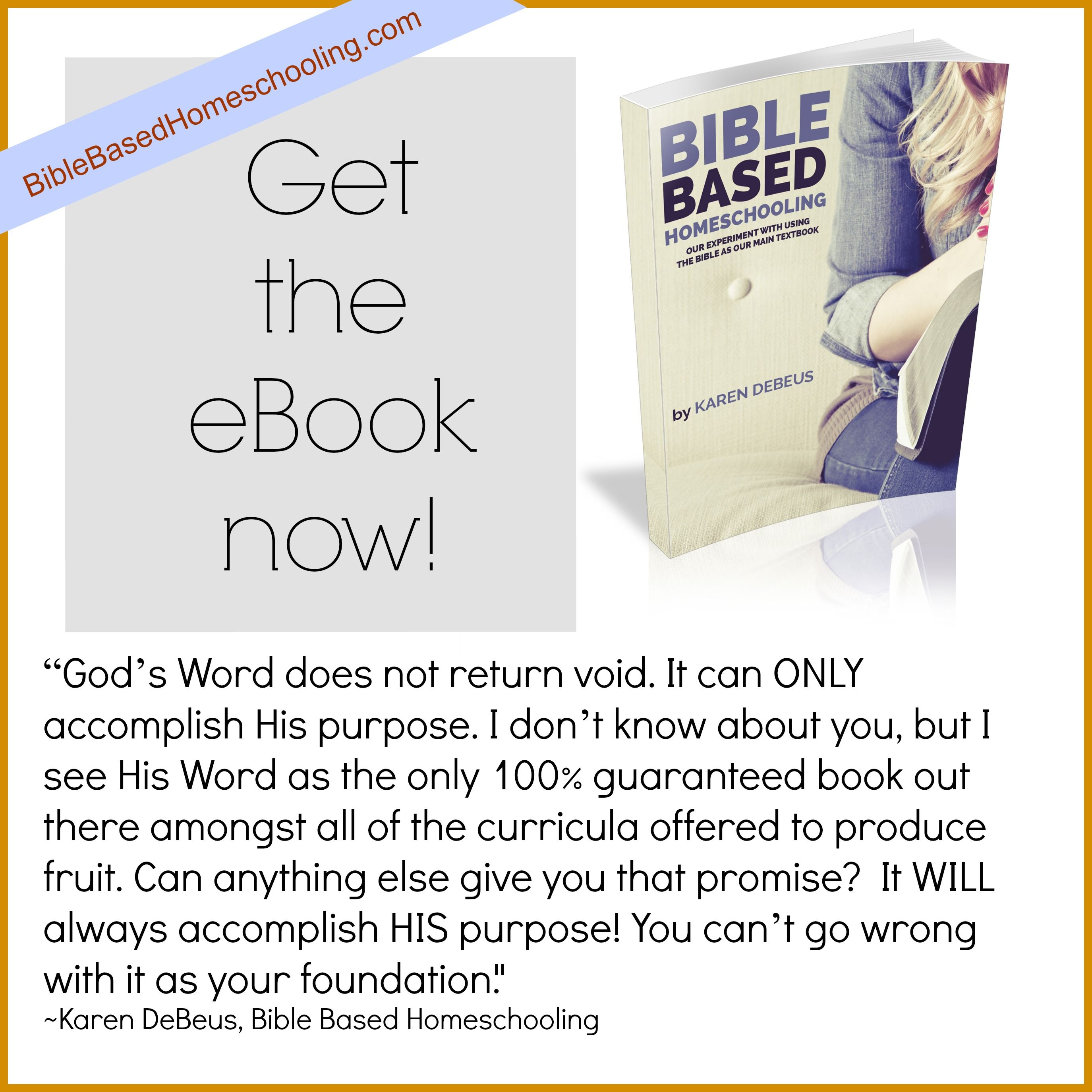 Our Experiment With Using The Bible As Our Main Textbook