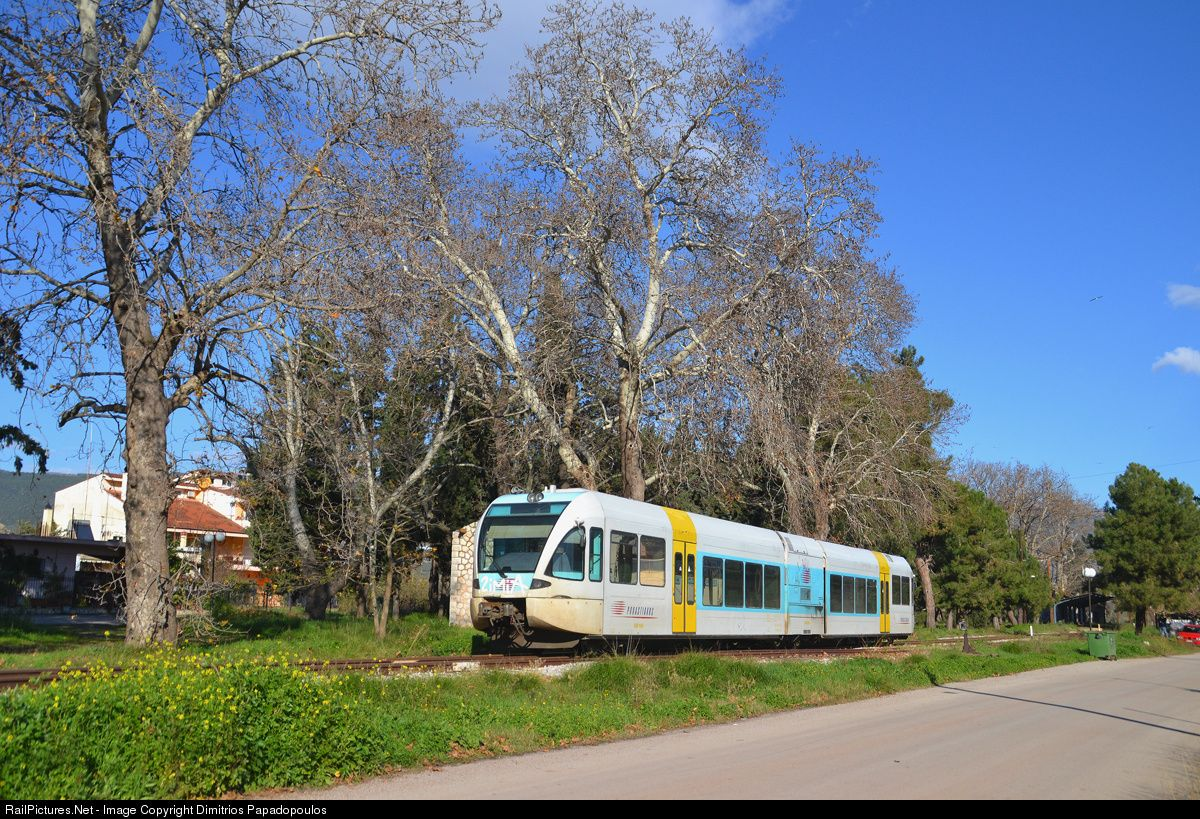 RailPictures.Net Photo: 560906 OSE Hellenic Railways Stadler GTW 2/6 at Agia Marina, Greece by Dimitrios Papadopoulos