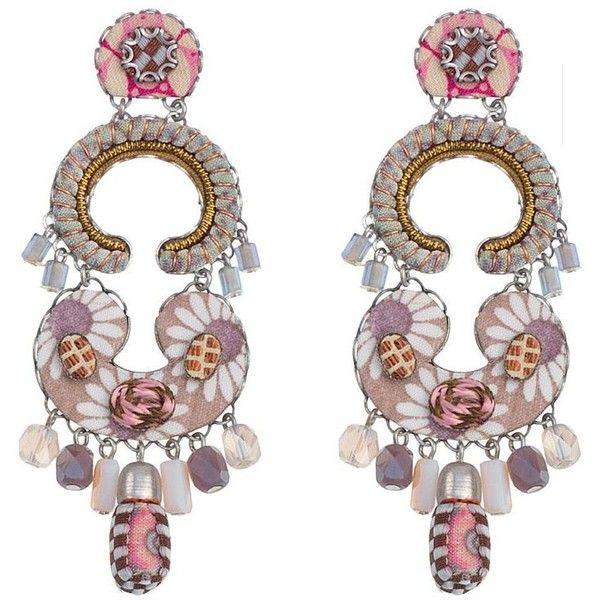 Ayala Bar Verona Victoria Earrings (€180) ❤ liked on Polyvore featuring jewelry, earrings, post back earrings, post earrings, long earrings, earring jewelry and long post earrings