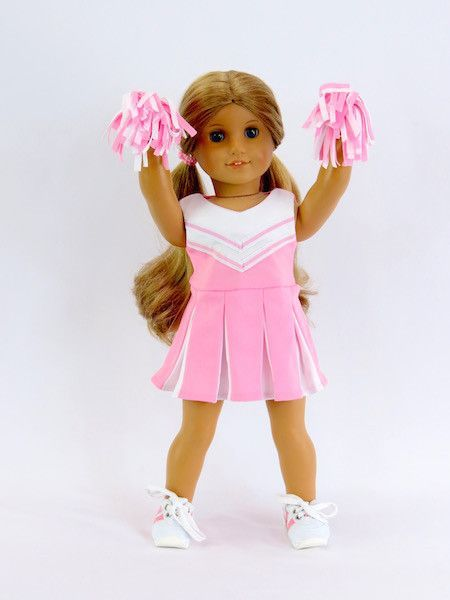 18 Inch Doll Pink Cheerleader Outfit #18inchcheerleaderclothes