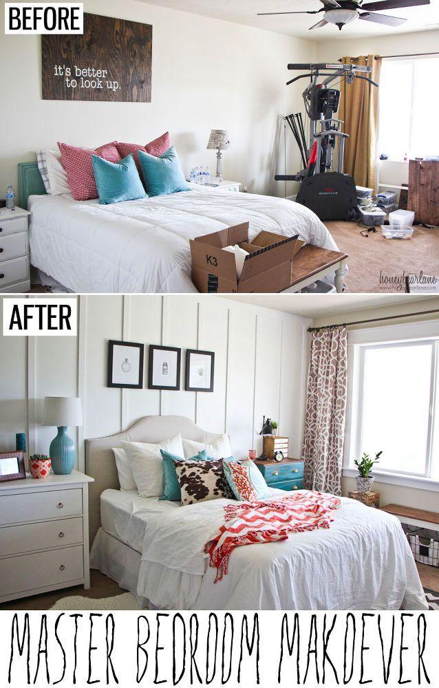 Diy Cozy Master Bedroom Makeover Idea Master Bedroom Makeover Bedroom Makeover Before And After Remodel Bedroom