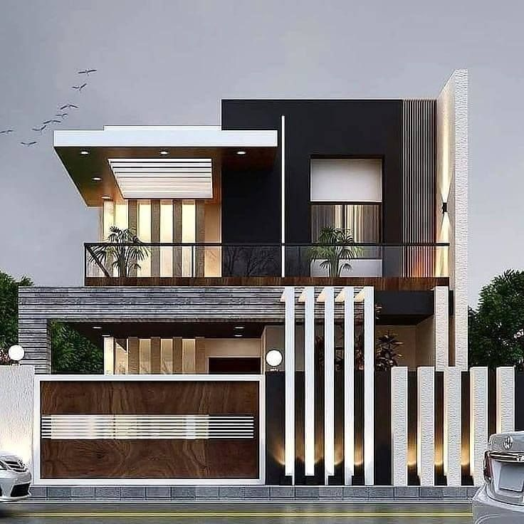 Top 55 Beautiful Exterior House Design Concepts Engineering Discoveries Modern Exterior House Designs Bungalow House Design Small House Design Exterior Small house design front