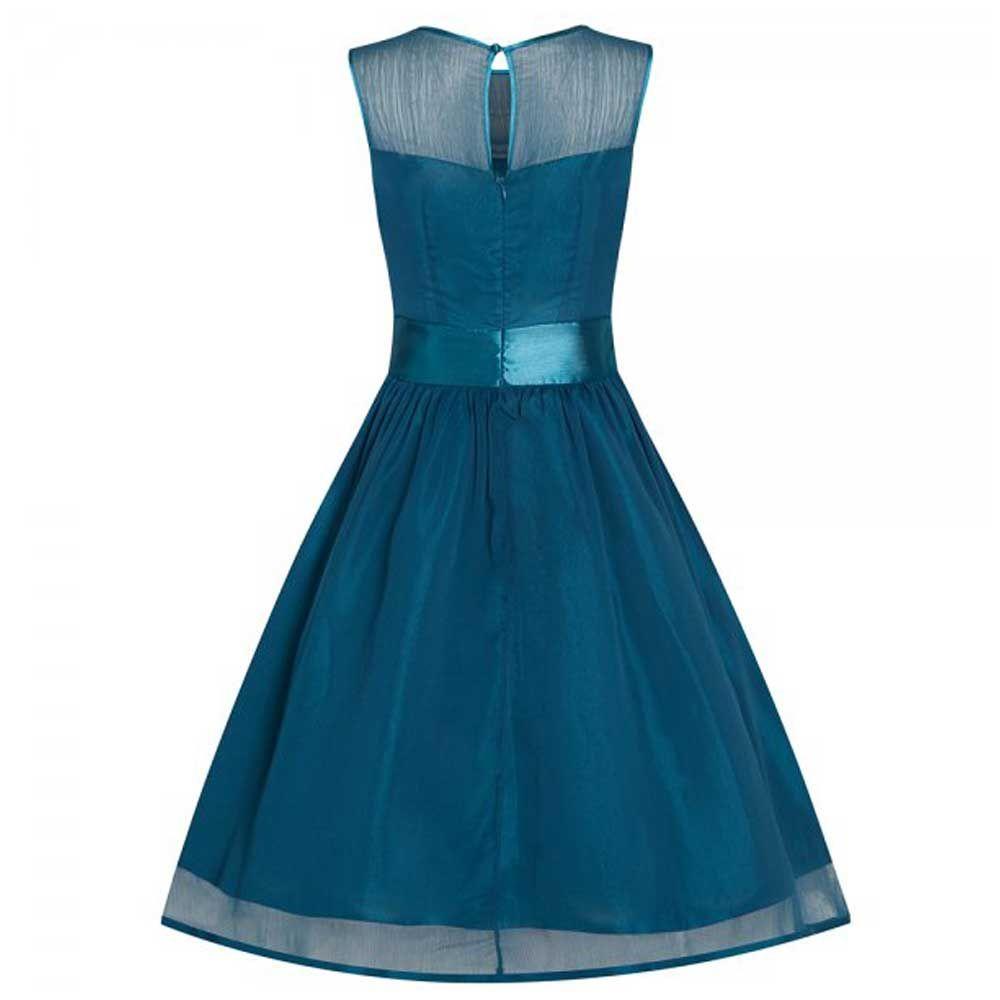Candy lange prom jurk met tailleband tea