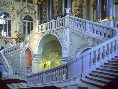 """""""Staircase in the State Hermitage Museum""""=>"""