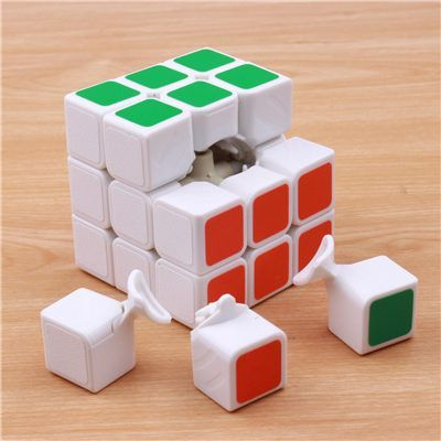 57mm Classic Magic Toys Cube3x3x3 PVC Sticker Block Puzzle Speed Cube Colorful LearningEducational Cubo Magico