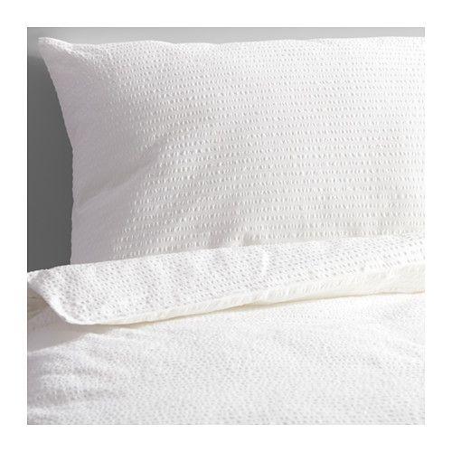 IKEA - ROSENAPEL, Enkelt sengesett, 150x200/50x60 cm, , Bomull, føles myk og behagelig mot huden din.Glidelåsen holder dyna på plass.
