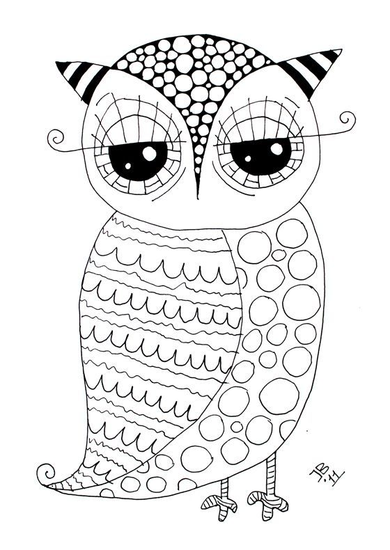 Free Owl - Coloring Page by kristin.small | coca cola | Pinterest ...