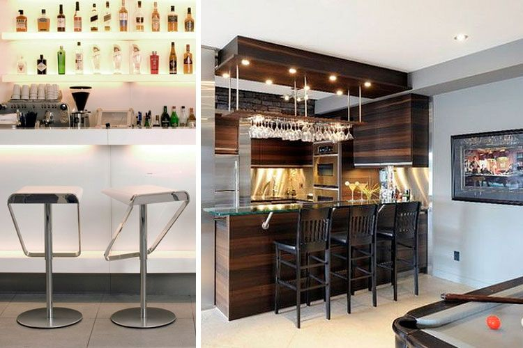 Ideas para instalar un bar en casa decofilia barras for Bar de madera para casa