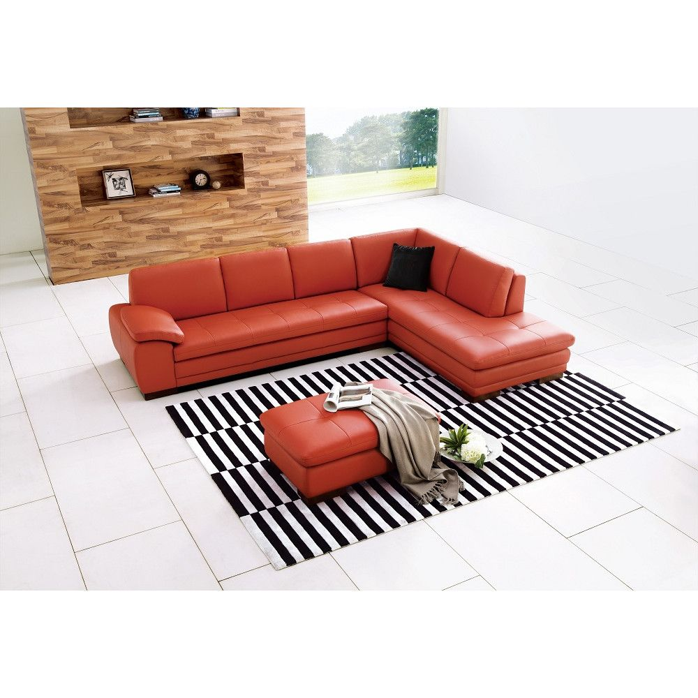 J&M Furniture Miami Leather Sectional Orientation: Right Hand Facing