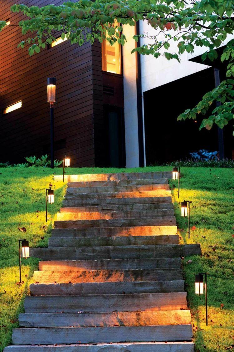 Led Indirekte Beleuchtung Im Garten 46 Ideen Gartenbeleuchtung Beleuchtung Garten Landschaftsbeleuchtung