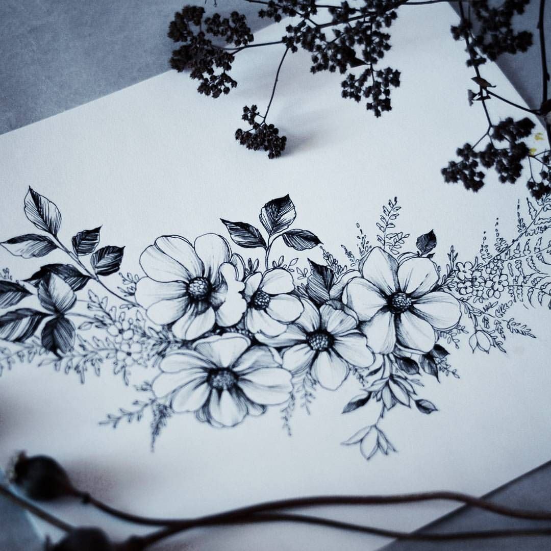 These are lovely little flowers Flower tattoos