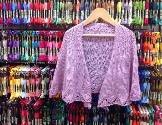 Châle Orchidée. Tuto gratuit.   Tuto   Knitting, Tricot et Shawl d6e0d7f4c12