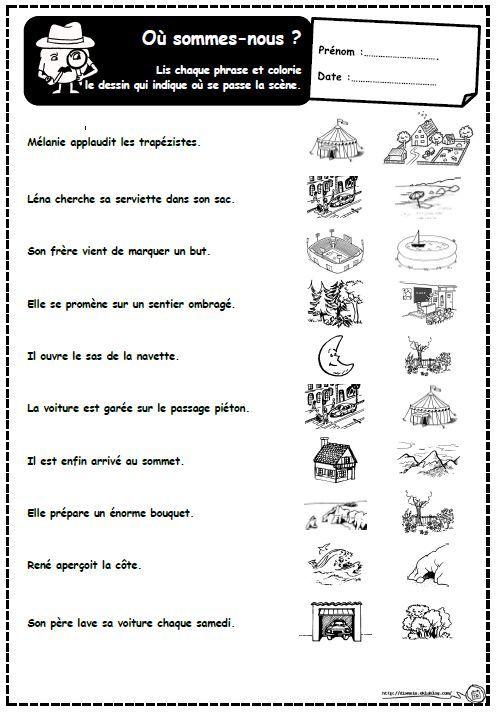 exercices de lecture ce1 pdf