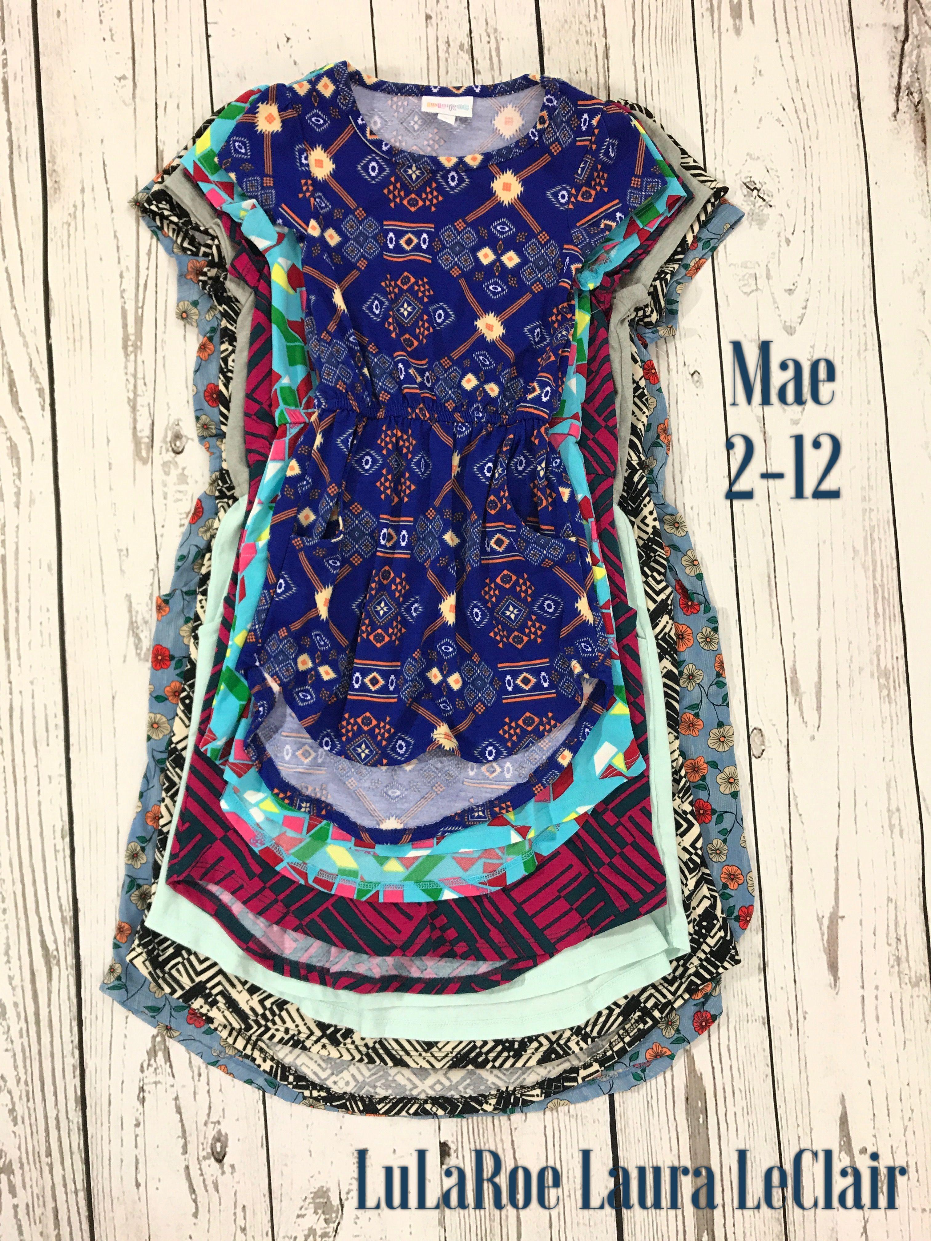 ec15f1151e0 LuLaRoe kids Mae dress sizes 2-12 size comparisons