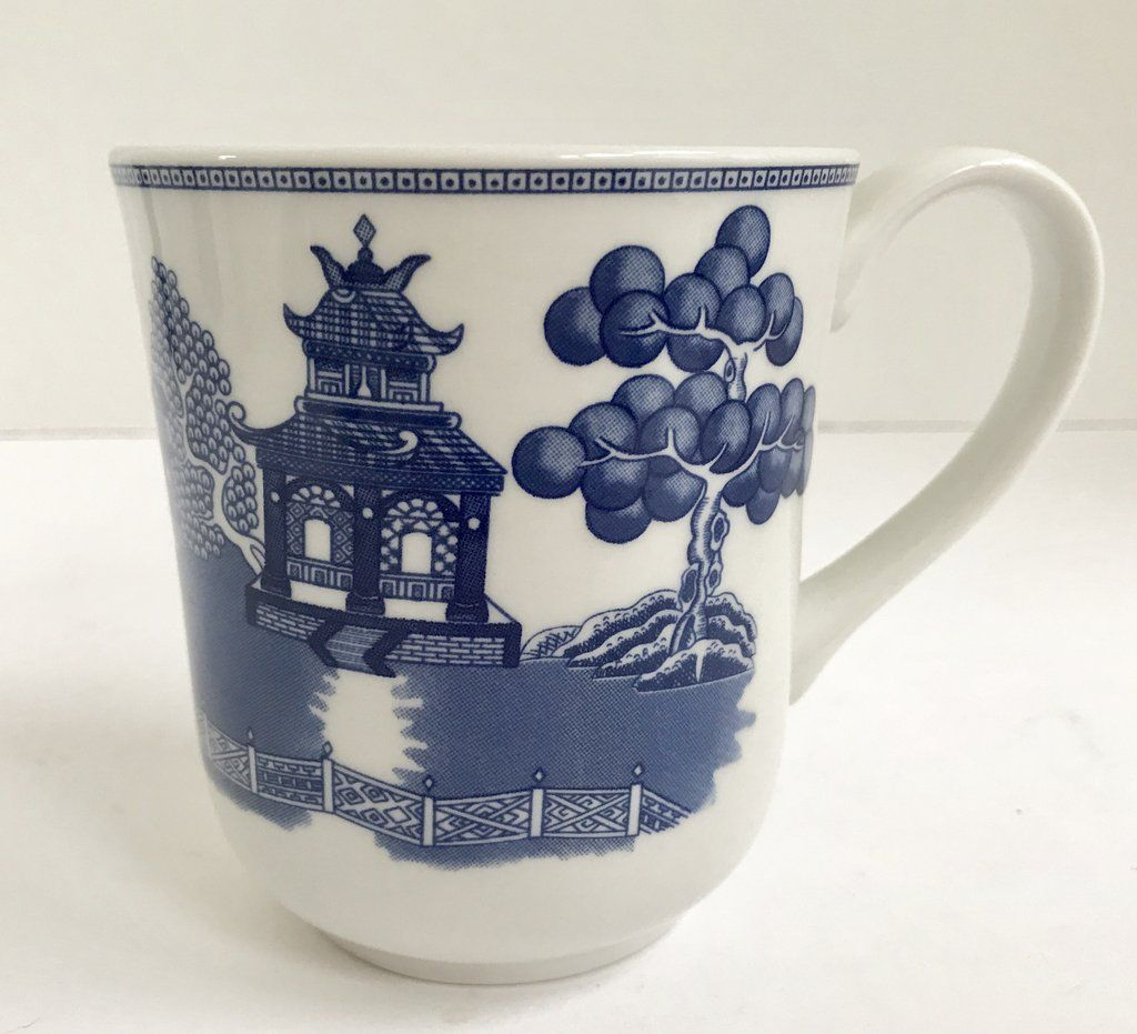 Johnson Brothers Blue Willow Coffee Mug Made in England & Johnson Brothers Blue Willow Coffee Mug Made in England | Vintage ...