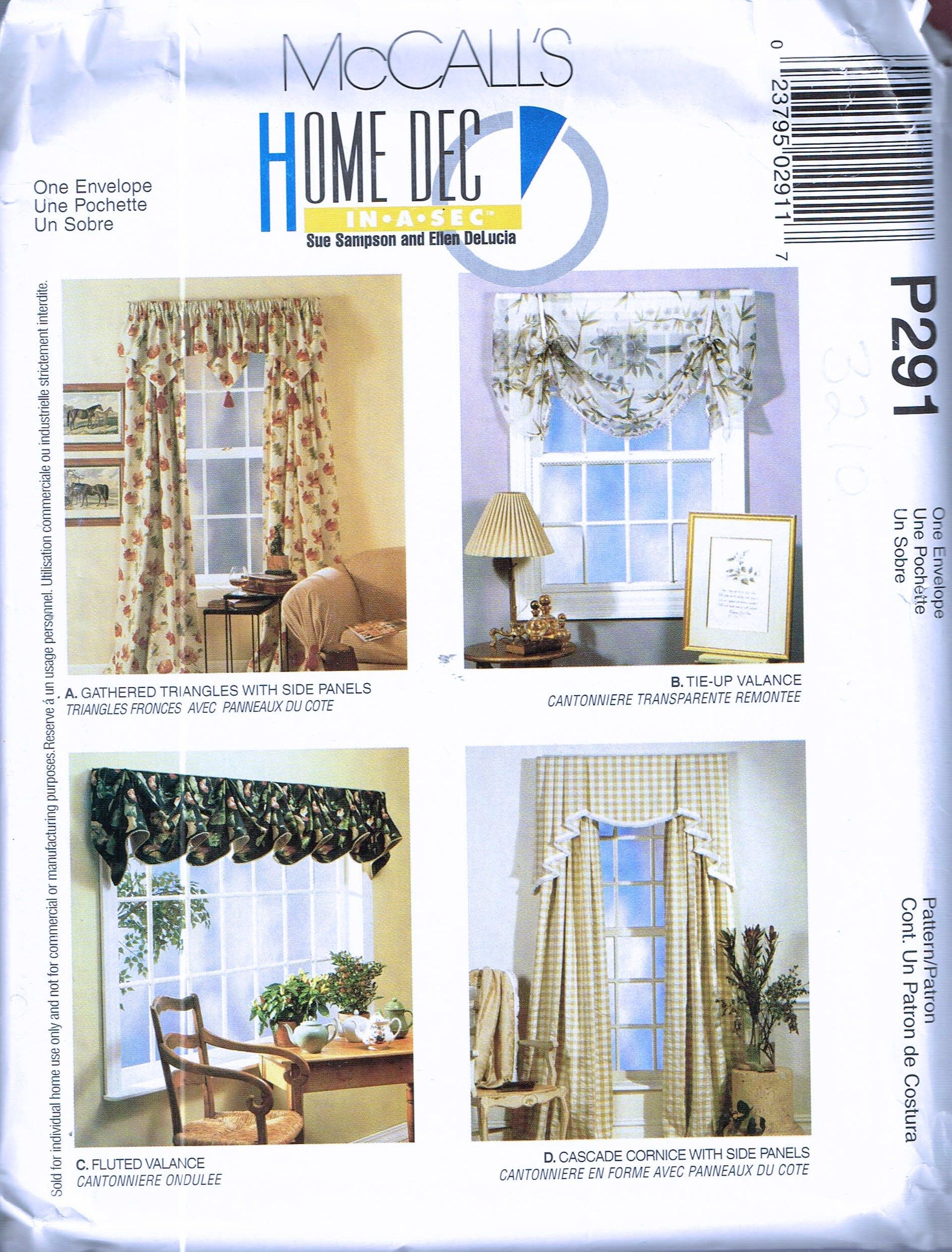 Curtain Sewing Patterns Easy Curtain Sewing Pattern Swag Curtain