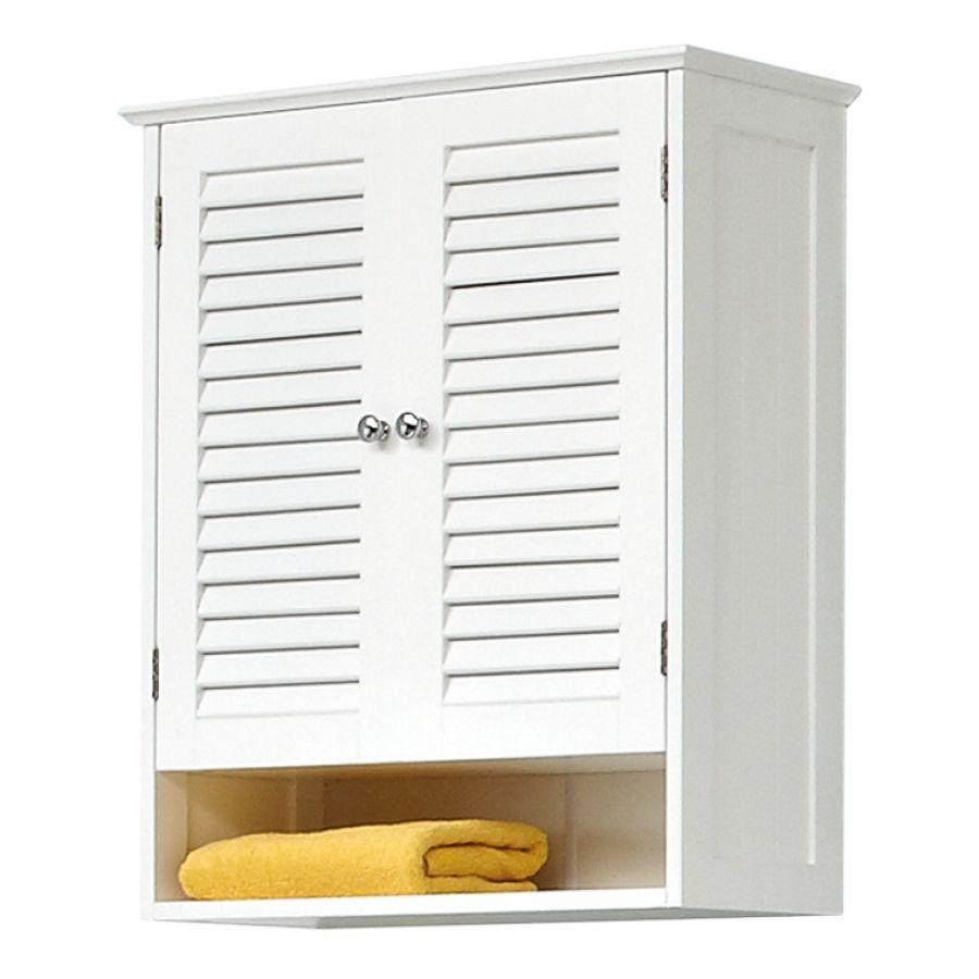 Armoire Haute De Salle De Bain armoire suspendue jasper ii - blanc   meuble haut salle de