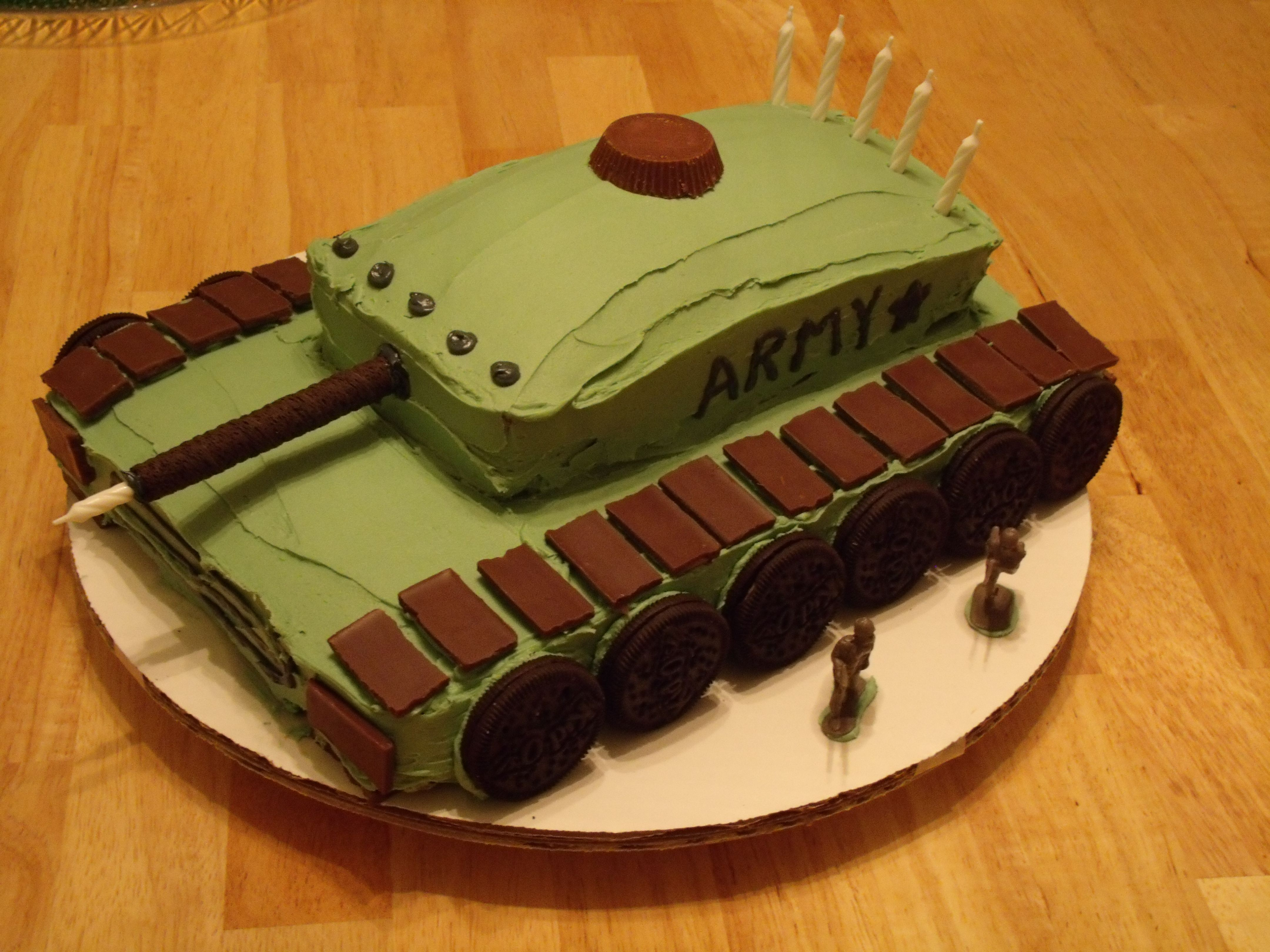 Fabulous Army Tank Cake By Me With Images Army Birthday Cakes Army Birthday Cards Printable Riciscafe Filternl
