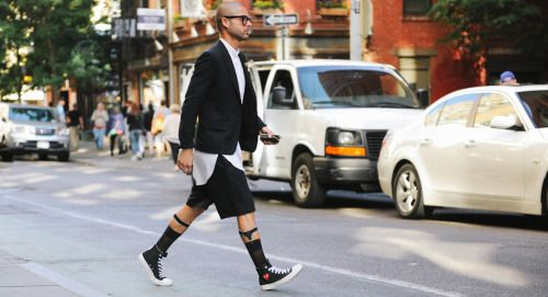 http://chicerman.com  billy-george:  Need me a pair of those Comme shoes.  Photo by George Elder  #streetstyleformen
