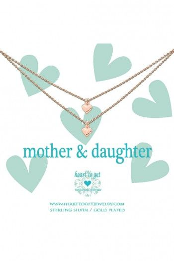 Heart to Get ketting Rose Gold Mother and Daughter 2N16HEA11R-3 | JewelandWatch.com