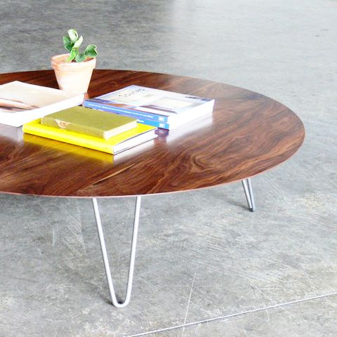 Hairpin Leg Round Coffee Table Idea For That Reclaimed Table