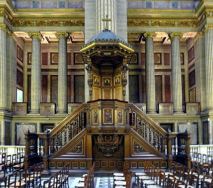 Paris VIII église de la Madeleine -  chaire