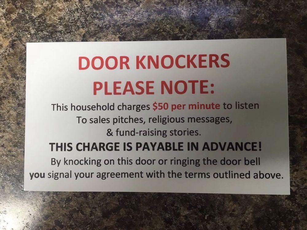 New No Soliciting Sign, Front Door, Home, Door Knockers, Door Knockers Note